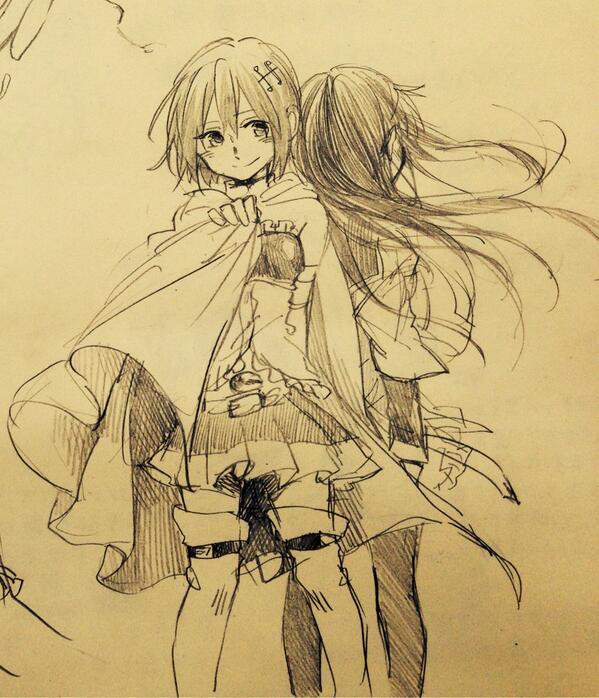 落書き…わたしも綺麗なイラストを描きたいなぁ>->O