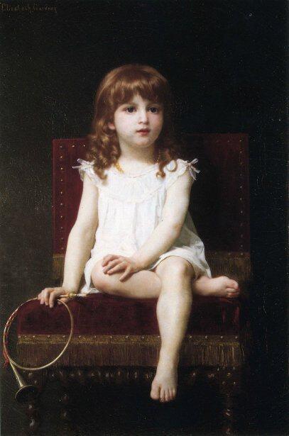 「ラドヤード・キプリングの娘」制作年不明エリザベス・ジェーン・ガードナーElizabeth Jane Gardner Bouguereau, Rudyard Kipling's Daughter