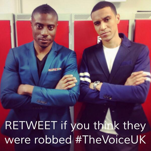 """.""""@RachelMak10: Retweet if u think @santimusic & @iAMLeoTheLion were robbed and should be in live show #thevoiceuk http://t.co/6VYpIhlhnz"""""""