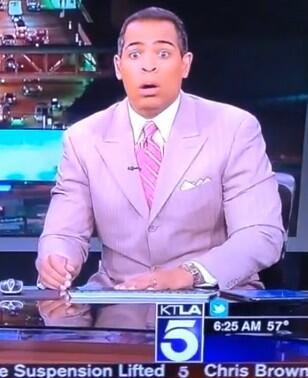 "LOL! Best... Face... Ever! #Earthquake! ""@BaileyLAKings: @ChrisKTLA #earthquakeface http://t.co/83hjxKPwIA"""