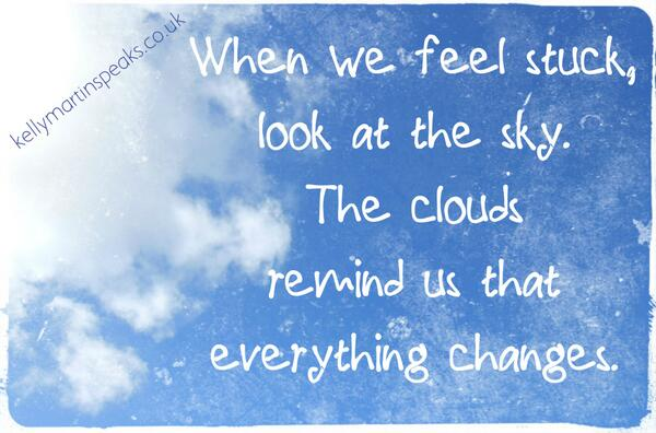 Kelly Martin Speaks On Twitter When We Feel Stuck Look At The Sky