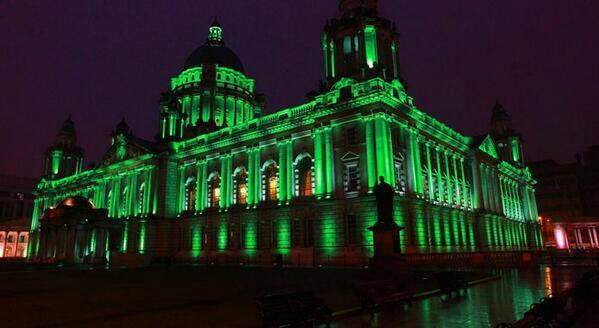 """@Irish_Gael: #SaintPatricksDay #Belfast City Hall #GlobalGreening #StPatricksDay #Ireland #IrishNation http://t.co/a2VZeIQilT"""