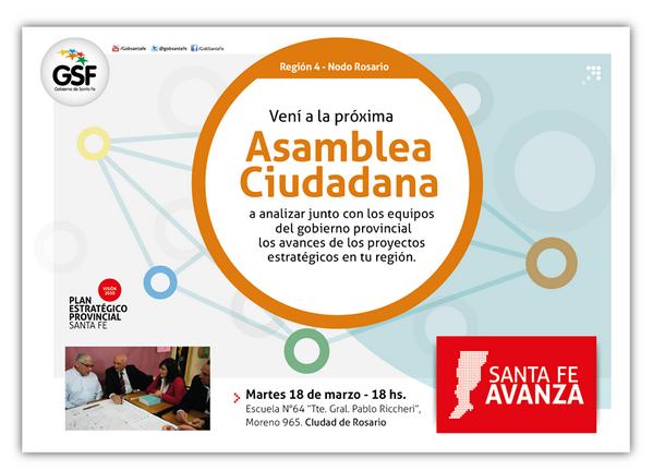 Mañana #AsambleaCiudadana, func. del @GobSantaFe ,vecinos e instituciones cara a cara. #participacion #LeydeJuventud http://t.co/vPWS1dCINB