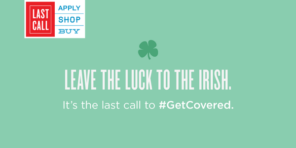When Irish eyes are smiling . . sure it's 'cause they got covered. http://t.co/lj9UYhVpUQ #14DaysLeft http://t.co/TfWlrx9k2a