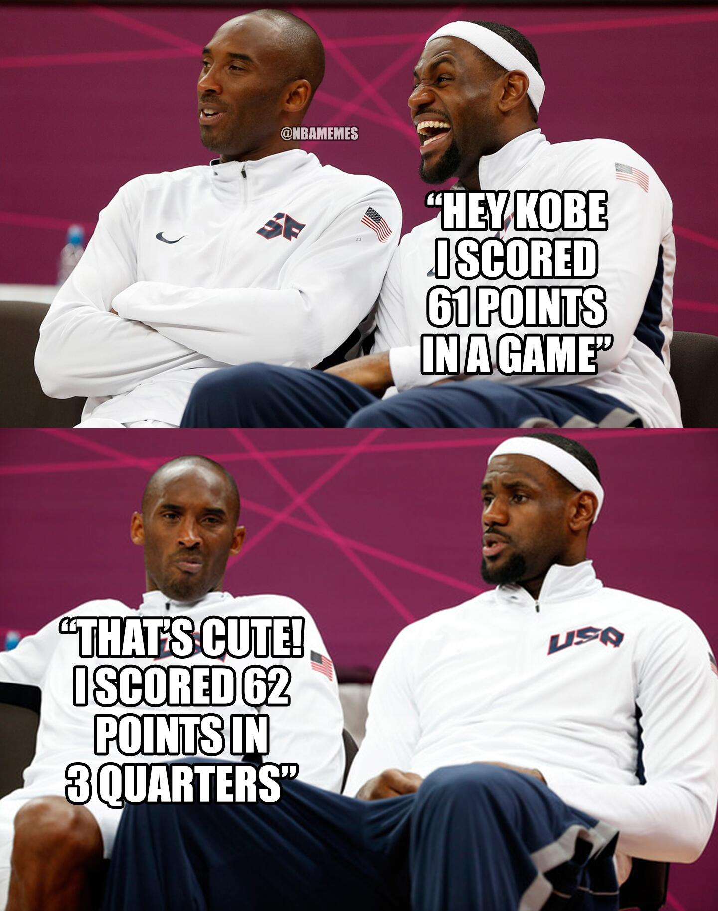 "NBA Memes on Twitter: ""Kobe Bryant vs. LeBron James! # ..."