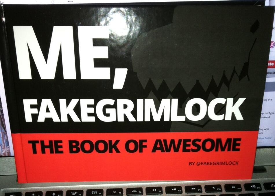 Twitter / wmougayar: Just received the @FAKEGRIMLOCK ...