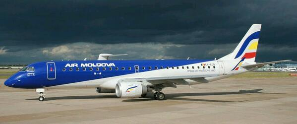 Embraer 190 de @AirMoldova_MD Este será el avión que cubrirá la ruta Chisnau-Barcelona 1 vez x semana desde el 03/06. http://t.co/zGdVw7aa0r