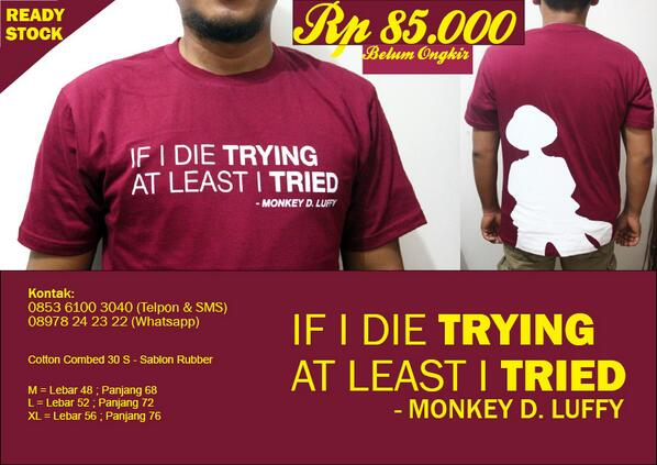 Bk Clothing On Twitter Hai At Anilmag Yuk Beli Kaos One Piece Quote