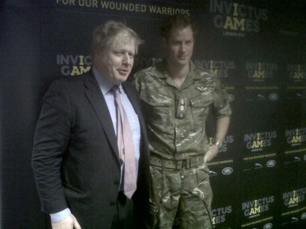 Thrilled to be @noordinarypark w/ Prince Harry to announce @InvictusLondon taking place in Sept 2014 #invictusgames http://t.co/igW2D0wGxh