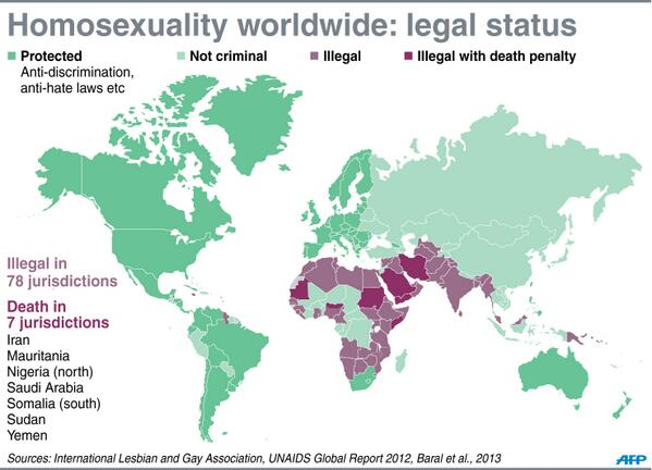 Countries that have the death penalty for homosexuality