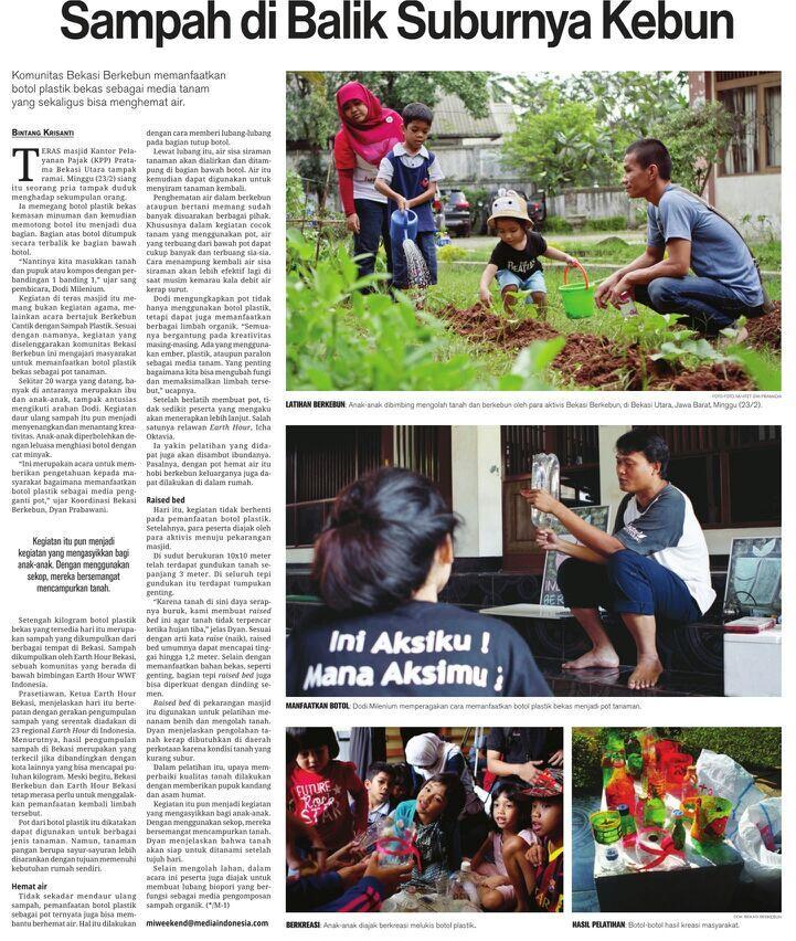 """Liputan Media Indonesia: """"Sampah di Balik Suburnya Kebun"""" @BekasiBerkebun"""