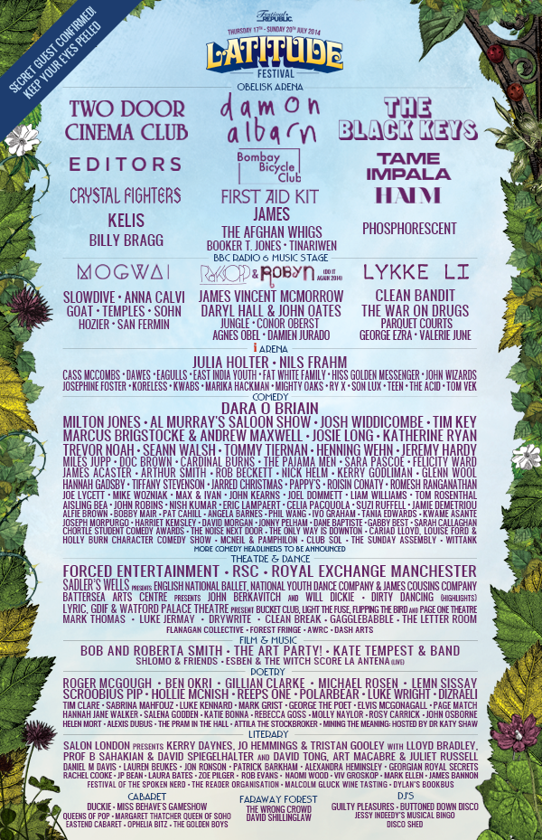Here are the new additions! Day Tickets & Weekend Tickets on sale now: http://bit.lyLatitude14Tix  #Latitude http://t.co/LbfaRjYyiN