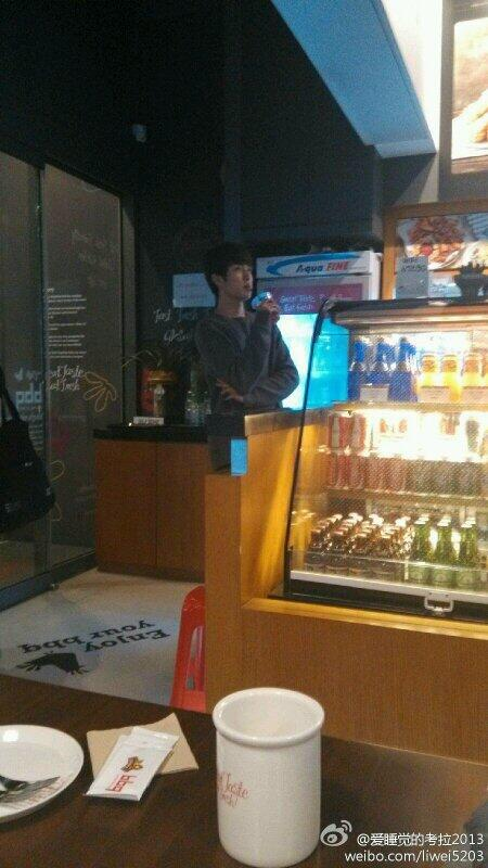 """Sungyeol at BBQ today! watching This is Infinite?? hehehe http://t.co/dQ5bGjYL58"""""""