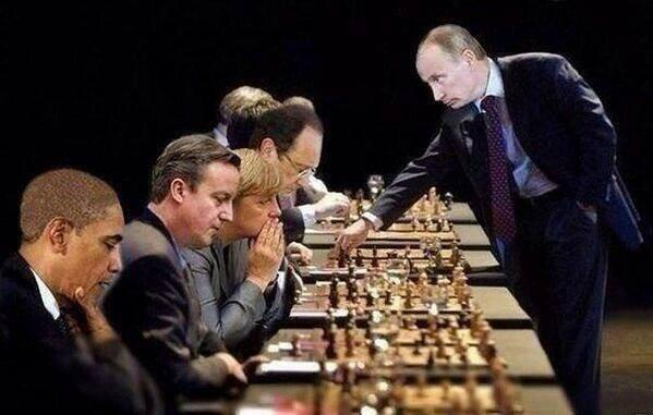 Geopolitical game of chess in #Ukraine (via @NikitaOdintsov ) #humor #Putin #Obama #Merkel #Cameron #Olland http://t.co/y8qhJQYro0