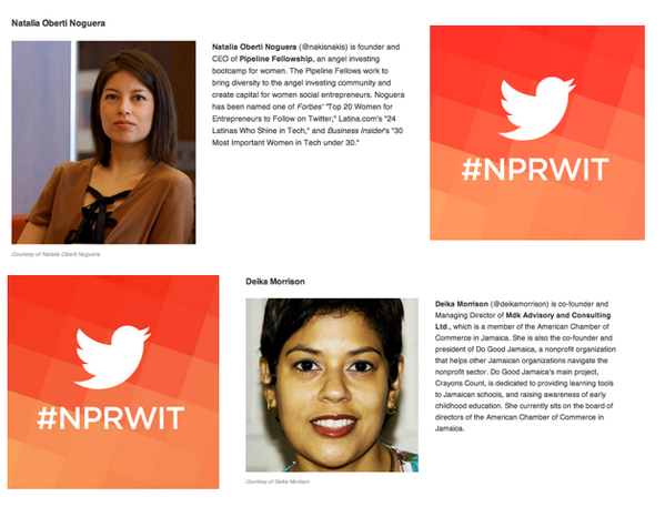Thumbnail for #NPRWIT March 6: Deika Morrison and Natalia Oberti Noguera