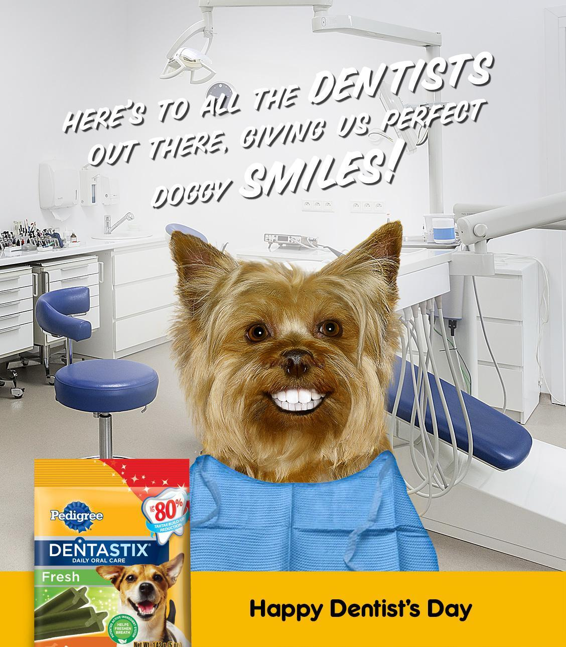 Twitter / PedigreeUS: Happy Dentist's Day! Treat ...