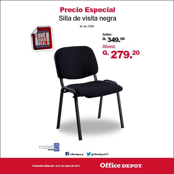 Office depot gt on twitter necesitas sillas para tu for Sillas de oficina precios office depot