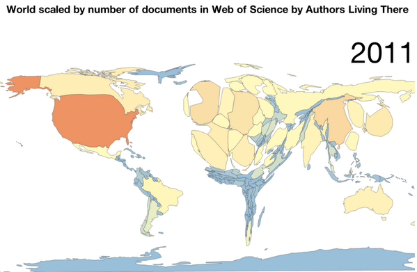 cc #scholarAfrica: World scaled by documents in @webofscience: http://t.co/X3t4vgPHq6 by @juancommander http://t.co/vrjxUASTe6 #openscience