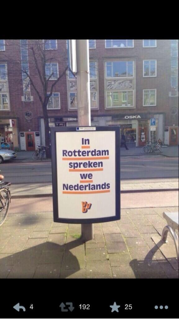 Kan iemand van de @VVD iets uitleggen over dat absurde bord in Rotterdam? http://t.co/9a9yyZAmft