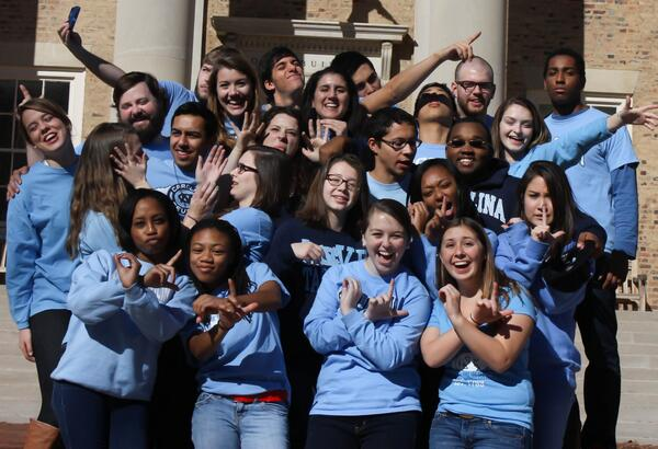 @srow2014 The #UNC-Chapel Hill OLs are #SROW ready to bring the UNC spirit next weekend! #srow2014 http://t.co/95echUOPjb