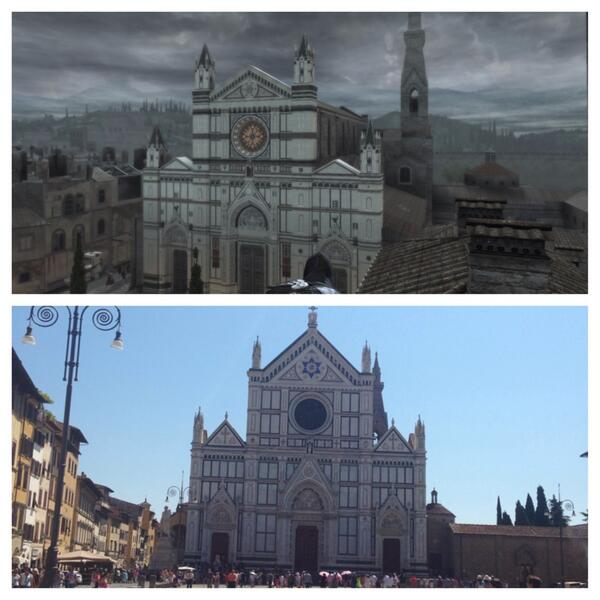 Just to prove how amazing the art in @assassinscreed is. Top is a screenshot, bottom is a pic I took #AskACRaph http://t.co/AX4AqIUlF4