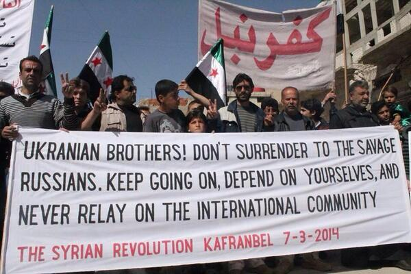 Very useful revolutionary tips from Kafranbel people in #Syria to the Ukrainian revolutionaries. #Ukraine http://t.co/0pWx6WrYVB