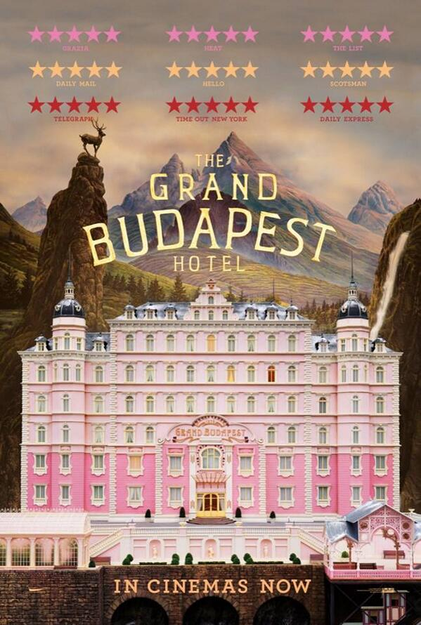 Today is the grand opening of the ultimate 5 star accommodation: #TheGrandBudapestHotel http://t.co/vLnlk9eJhr