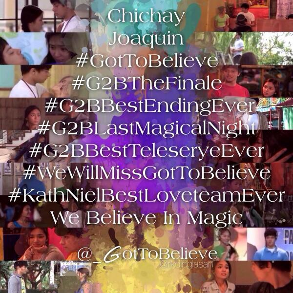 HASHTAGS TONIGHT: #G2BBestEndingEver #GotToBelieve http://t.co/KxKYClxVyZ