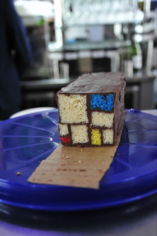 Happy 142nd birthday Piet Mondrian! (cake courtesy of Tate Liverpool café) http://t.co/xKt28ZtMb2