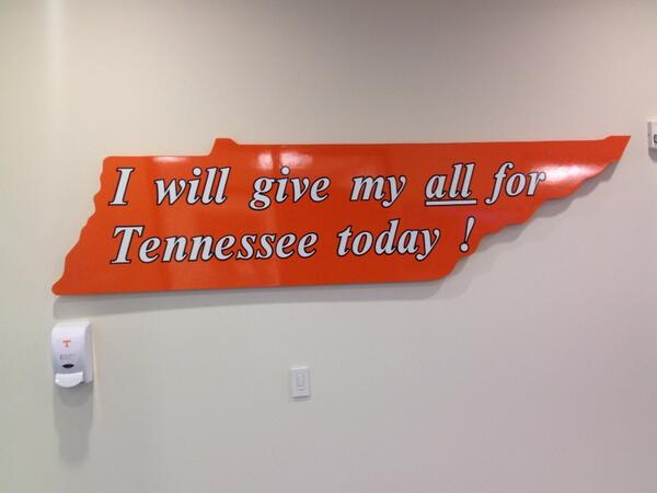 Today is practice Day 1, but our #Vols do this every day! #Team118 http://t.co/hwvKWQR2cW