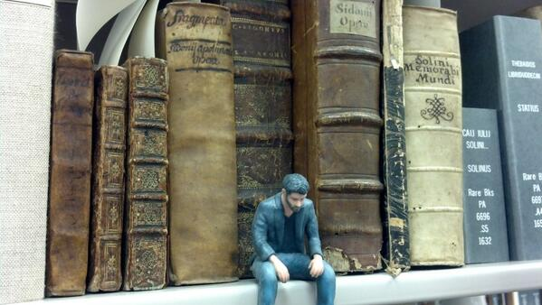 #ArchiveShelfie We have all these rare books from the 16th century but I can't read Latin #SadKeanu http://t.co/xDaHkBvoJV