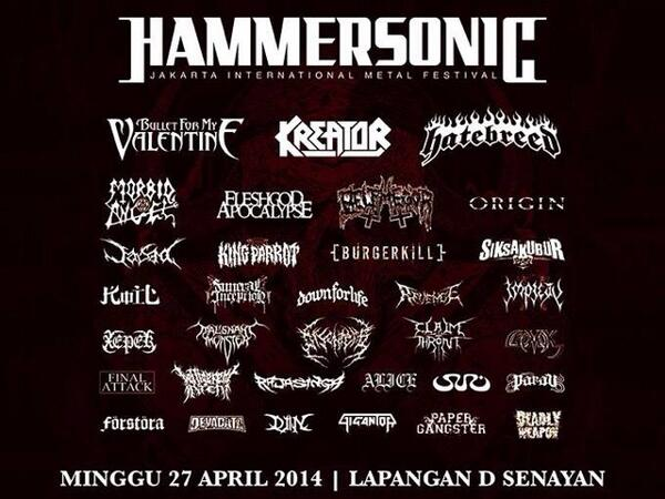 Panggung Gigantor berikutnya! @hammersonicfest Minggu, 27 April 2014. See you at the pit! \m/ http://t.co/bOHoW5OYJL