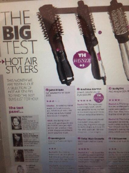 Delighted that my Hot Air Styler as been voted best in this months Your Hair Mag please retweet for me x http://t.co/v7EfC80ZPa