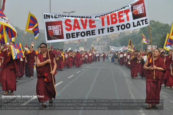#Tibet Solidarity March: #London, 15 March 2014: http://t.co/FwJ2SXZ6qd  #freeTIBET! #humanrights #genocide #amnesty http://t.co/OzMIxJkaYu