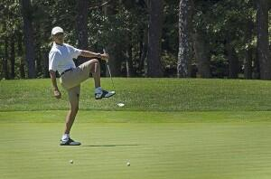 Venezuela, Crimea on fire, four Americans missing in plane disappearance so Obama goes golfing