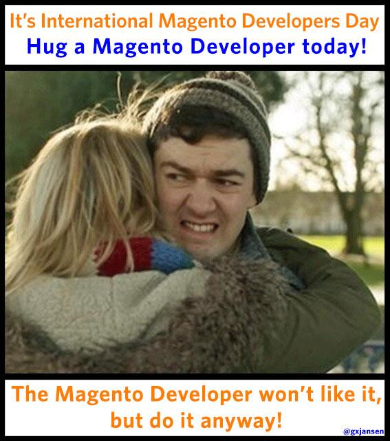Hug a @Magento developer today! ;) http://t.co/BuT99ei80S