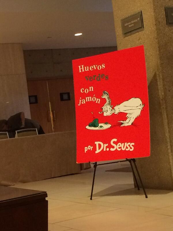 #SPJScripps peeps: you're getting double #awesomeness since the #DrSeuss readings are here! http://t.co/UJCVTyZ3BK