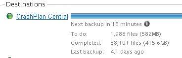 @crashplan Backups have been pending for 4 days. No errors, just always waiting. See pic. Any ideas? http://t.co/snlDRyvYMi