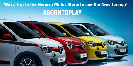 For your chance to WIN a weekend in Geneva to see the New Twingo, share a photo of your playful side with #Born2Play! http://t.co/i4uCoIhyuz