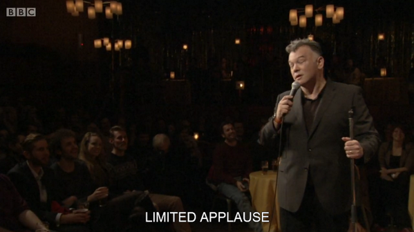If you watched #StewartLee's Comedy Vehicle with the subtitles on last week you could have seen this exciting moment http://t.co/3SRZrpw4CF
