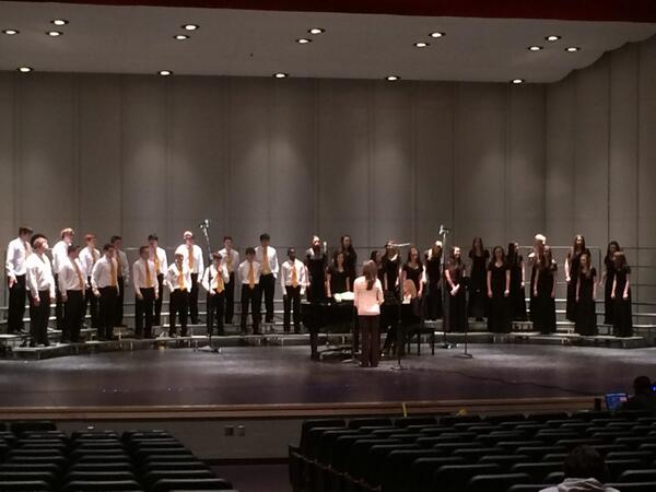 Freshmen choir getting set to perform. http://t.co/HkmDlvRY5m