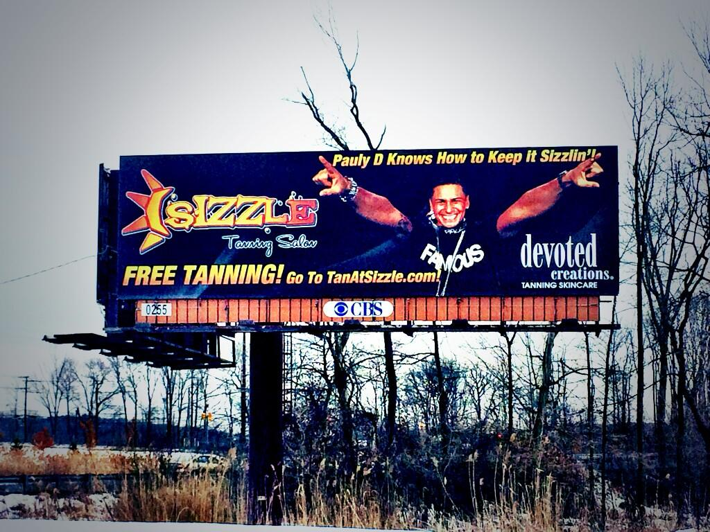 RT @SizzleTan_NJ: It's OFFICIAL! Our newest billboard featuring the one and only @djpaulyd just went up! Sizzlin! In Totowa on rt 46 http:/…