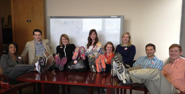We got sneakers, yes we do! We got sneakers, how 'bout you?!  #UTSneakers for @AmericanCancer http://t.co/mezlnkPgIr