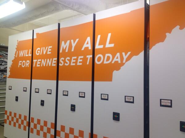 Our equipment room is ready to give its all... #VolsSpring14 gets underway in less than 3 hrs. http://t.co/pZaCNSeRXt