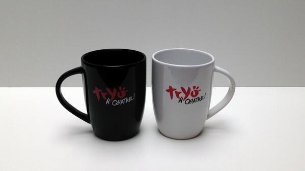JEU >> RT et gagne un lot de 2 mugs #tryoa4 + 1 carte dédicacée #concours [http://t.co/A5UjdUEkND] http://t.co/HXpPQy6a5M