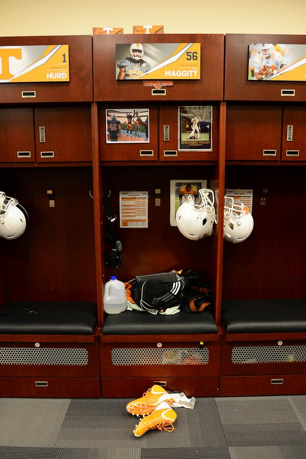 #Team118 takes the field for the first time this spring today, @CurtMaggitt's locker is ready to go. http://t.co/SSiG6SZnuB