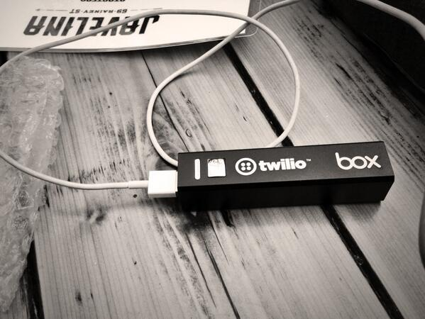 Thanks @twilio and @BoxHQ for the sweet power bank! My phone needed it. #SXSW14 http://t.co/om8bIZyS3k