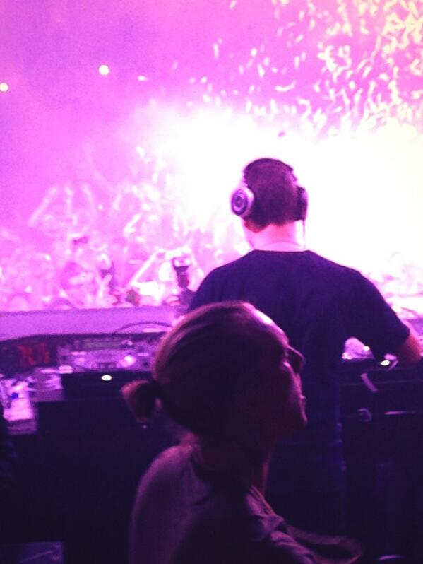 #flashbackfriday @tiesto your gracious invite to from your view was sensory overload