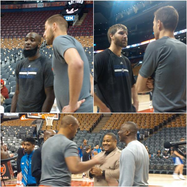 Seven former #Raptors players & coaches on Kings roster so plenty of catch up pre-game in #Toronto. #RTZ http://t.co/gbj0GcqsLQ