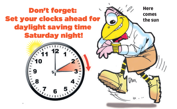 Remember to #SpringForward before you hit the hay tomorrow night! http://t.co/5YLs9YtfOH